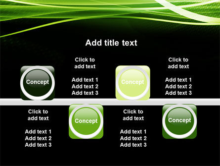 Intersected Green on Black PowerPoint Template Slide 18