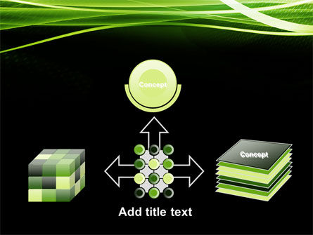 Intersected Green on Black PowerPoint Template Slide 19