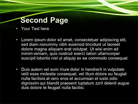 Green on Black PowerPoint Template Slide 2