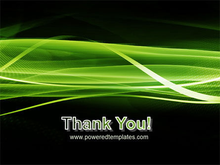 Green on Black PowerPoint Template Slide 20