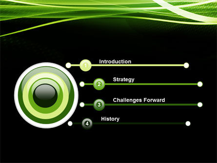 Green on Black PowerPoint Template Slide 3
