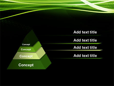 Green on Black PowerPoint Template Slide 4