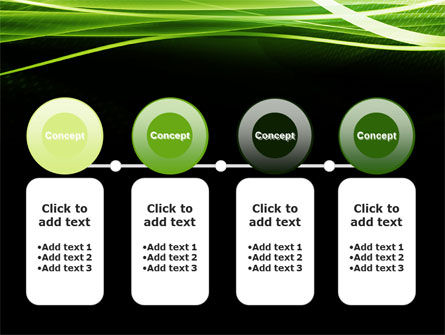Green on Black PowerPoint Template Slide 5