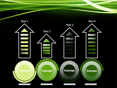 Green on Black PowerPoint Template Slide 7