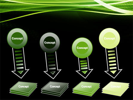 Green on Black PowerPoint Template Slide 8