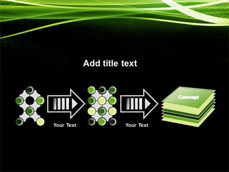 Green on Black PowerPoint Template Slide 9