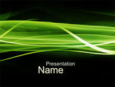 Abstract/Textures: Green on Black PowerPoint Template #10184
