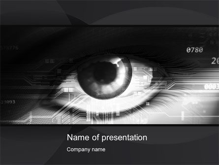 Technology and Science: Technological View PowerPoint Template #10185