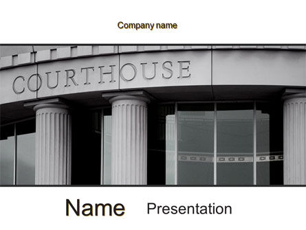 Courthouse PowerPoint Template, 10187, Legal — PoweredTemplate.com