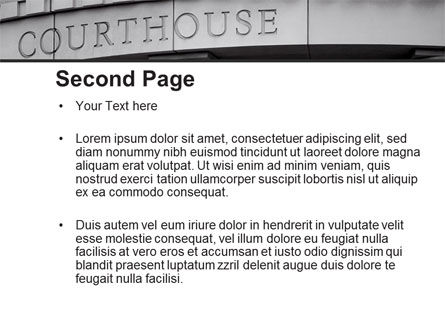 Courthouse PowerPoint Template Slide 2
