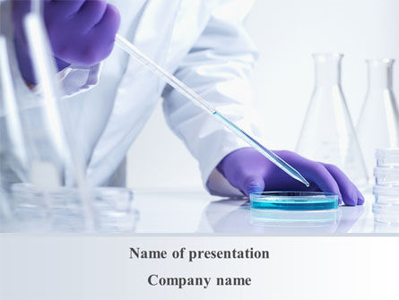 Bio Experiment PowerPoint Template, 10188, Technology and Science — PoweredTemplate.com