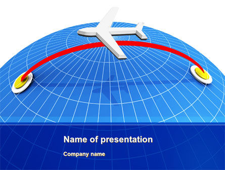 Flight PowerPoint Template, 10190, Cars and Transportation — PoweredTemplate.com