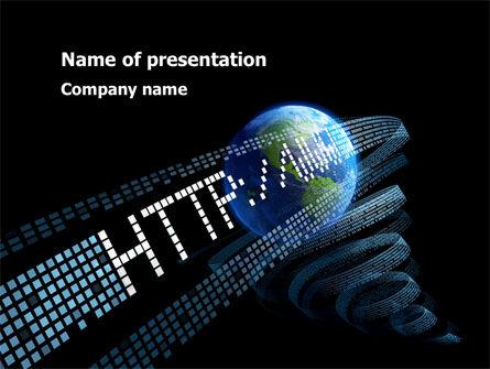 URL PowerPoint Template, 10192, Technology and Science — PoweredTemplate.com