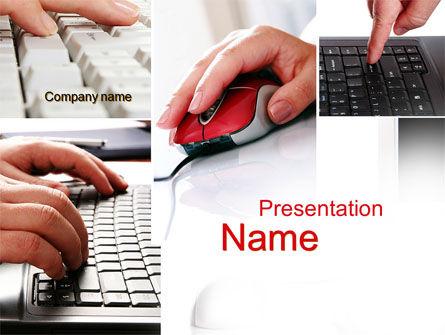 IO Device PowerPoint Template, 10193, Computers — PoweredTemplate.com