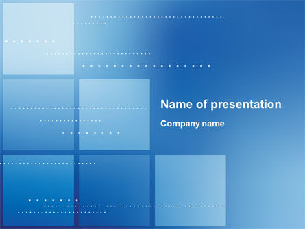 Squares PowerPoint Template, 10194, Abstract/Textures — PoweredTemplate.com