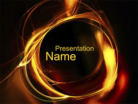 Circle of Fire PowerPoint Template