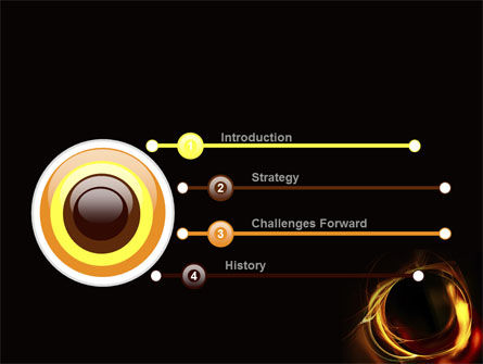 Circle of Fire PowerPoint Template Slide 3
