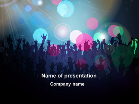 Careers/Industry: Fan Zone PowerPoint Template #10197