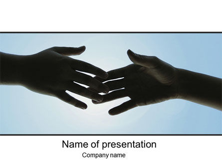 Touch PowerPoint Template, 10200, Religious/Spiritual — PoweredTemplate.com