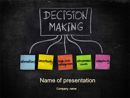 decision making process powerpoint template backgrounds 10203