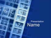 Careers/Industry: Countdown on Film PowerPoint Template #10204