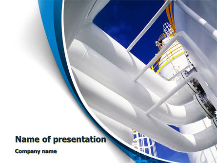Utilities/Industrial: Compressor Station PowerPoint Template #10207
