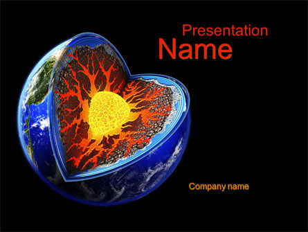 Education & Training: Core of the Earth PowerPoint Template #10208