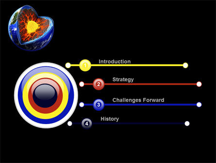 Core of the Earth PowerPoint Template, Slide 3, 10208, Education & Training — PoweredTemplate.com