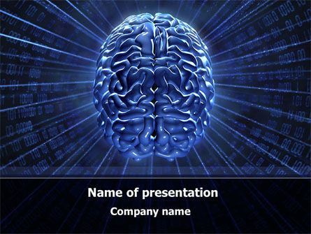 Technology and Science: Digital Brain PowerPoint Template #10212