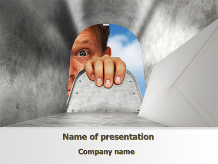 Business Concepts: Unexpected Mail PowerPoint Template #10213