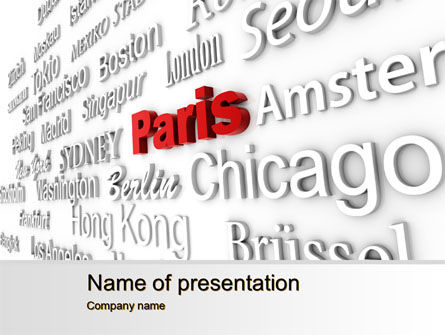Destination PowerPoint Template, 10214, Business Concepts — PoweredTemplate.com