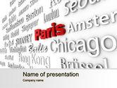 Business Concepts: Destination PowerPoint Template #10214