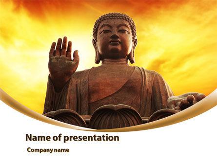 Religious/Spiritual: Buddha PowerPoint Template #10221