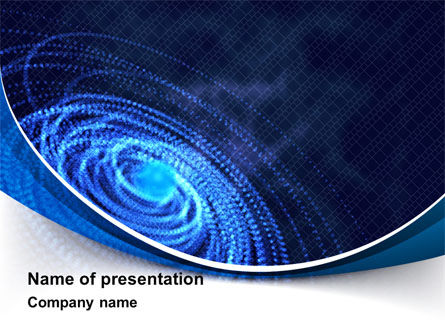 Digital Whirlpool PowerPoint Template, 10222, Abstract/Textures — PoweredTemplate.com