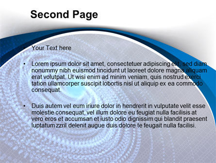 Digital Whirlpool PowerPoint Template Slide 2