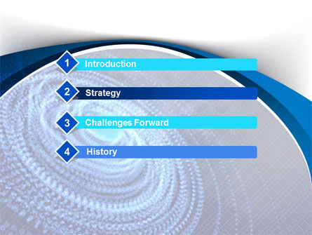 Digital Whirlpool PowerPoint Template Slide 3