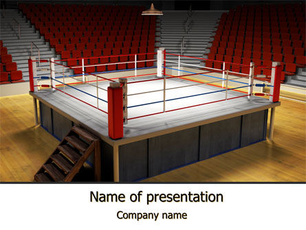 Before the Fight PowerPoint Template, 10223, Sports — PoweredTemplate.com