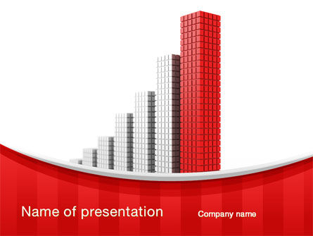 Column Chart PowerPoint Template, 10225, Business Concepts — PoweredTemplate.com