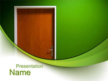 Door PowerPoint Template, 10227, Construction — PoweredTemplate.com