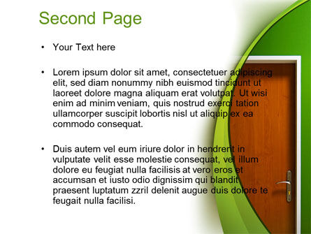Door PowerPoint Template, Slide 2, 10227, Construction — PoweredTemplate.com