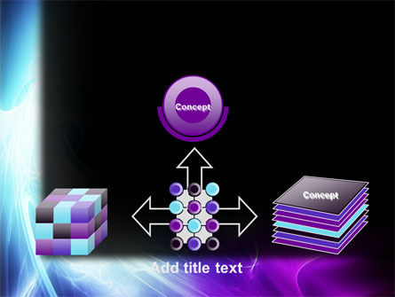 Blue Spectrum PowerPoint Template Slide 19