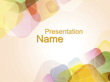 Abstract/Textures: Colored Spots PowerPoint Template #10230