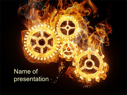 Burning Mechanism PowerPoint Template, 10231, Utilities/Industrial — PoweredTemplate.com