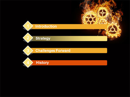 Burning Mechanism PowerPoint Template, Slide 3, 10231, Utilities/Industrial — PoweredTemplate.com