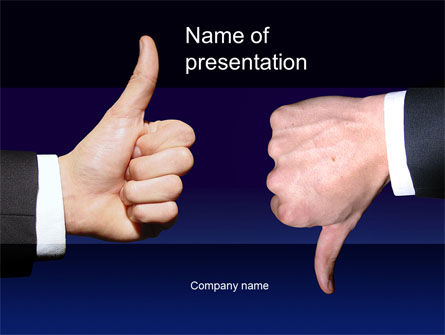 Business Concepts: Judgment PowerPoint Template #10233