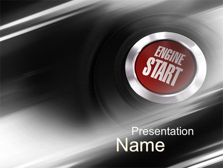 Cars and Transportation: Start Engine PowerPoint Template #10234