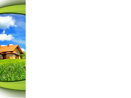 Templat Powerpoint Rumah Desa Gambar Latar 10235 Poweredtemplate Com