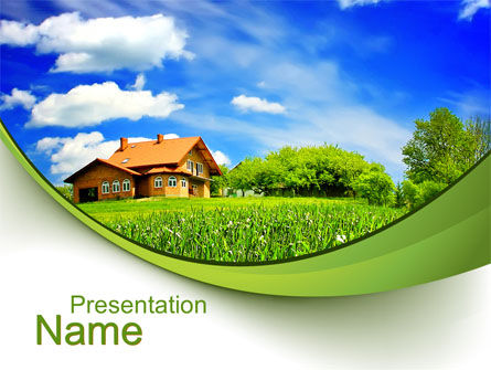 Village house powerpoint template backgrounds 10235 village house powerpoint template toneelgroepblik Choice Image