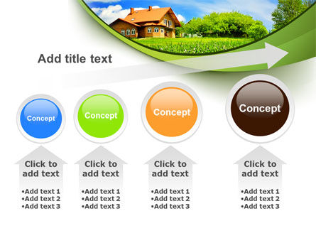 Village House PowerPoint Template Slide 13