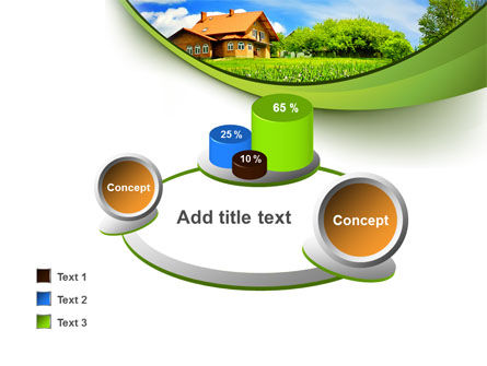 Village House PowerPoint Template Slide 16